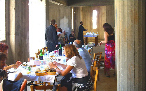 Feast in the community center on Peter and Paul's day